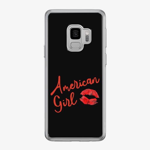 American Girl Kiss Black Samsung Galaxy Phone Case by Tiny Quail