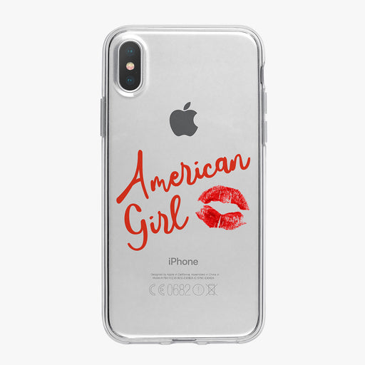 American Girl Kiss Clear iPhone Case by Tiny Quail