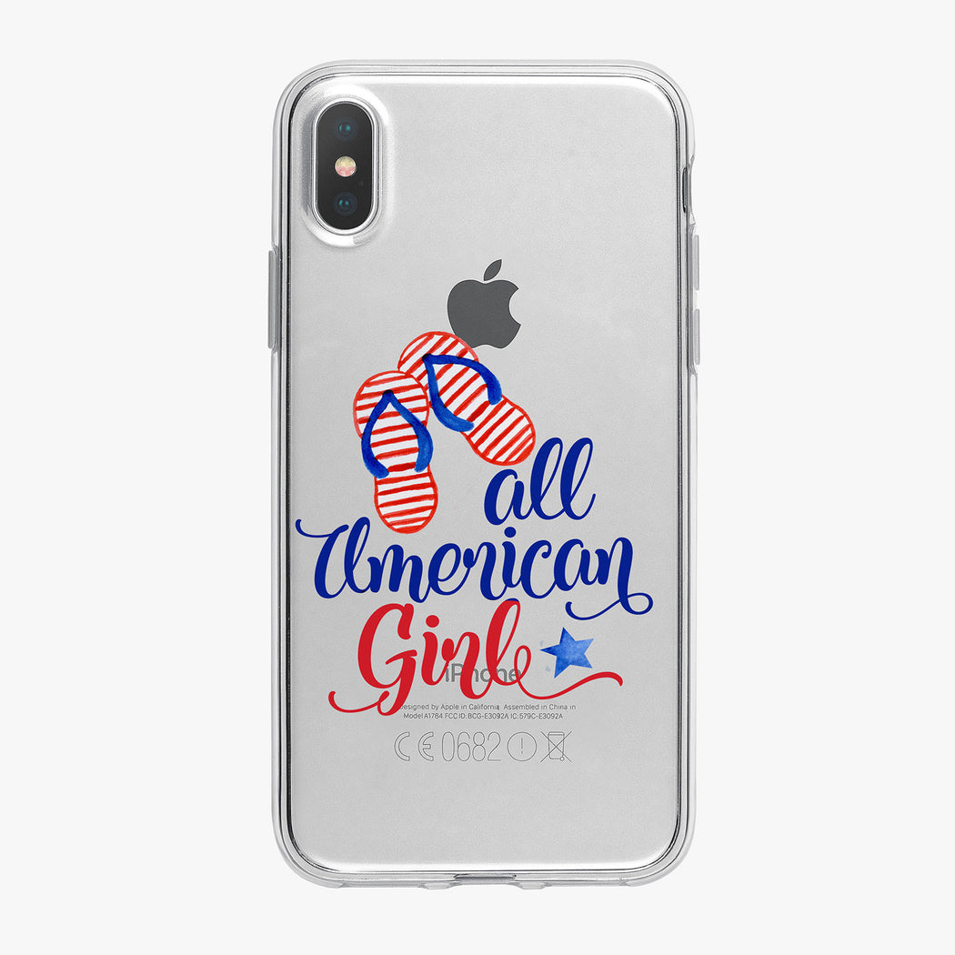 All American Girl Clear iPhone Case by Tiny Quail