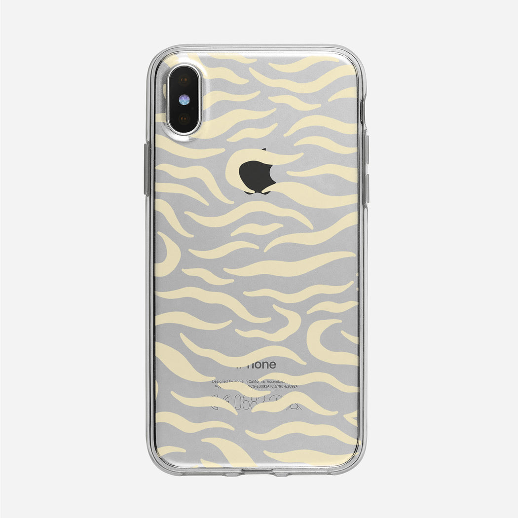 Pale Tiger Stripes Clear iPhone Case from Tiny Quail