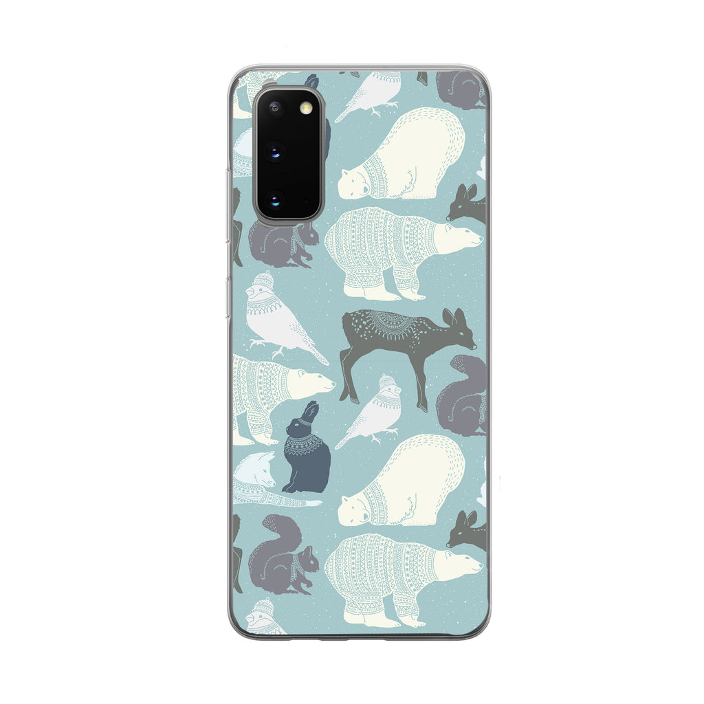 Animals with Sweaters Samsung Galaxy Phone Case from Tiny Quail
