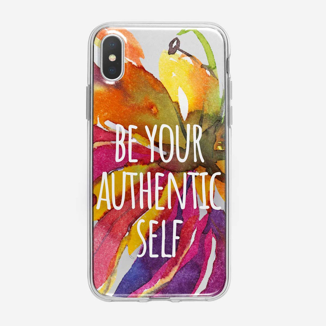 Authentic Self Floral iPhone Case From Tiny Quail