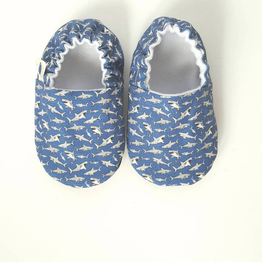 Shark Organic Baby Shoes Moccs by Weepereas