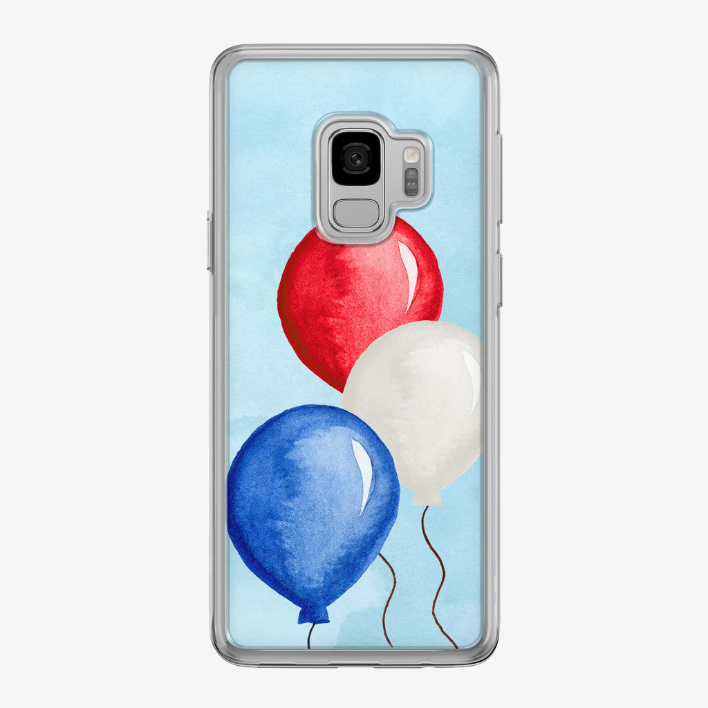 Patriotic Balloons Samsung Galaxy Phone Case by Tiny Quail