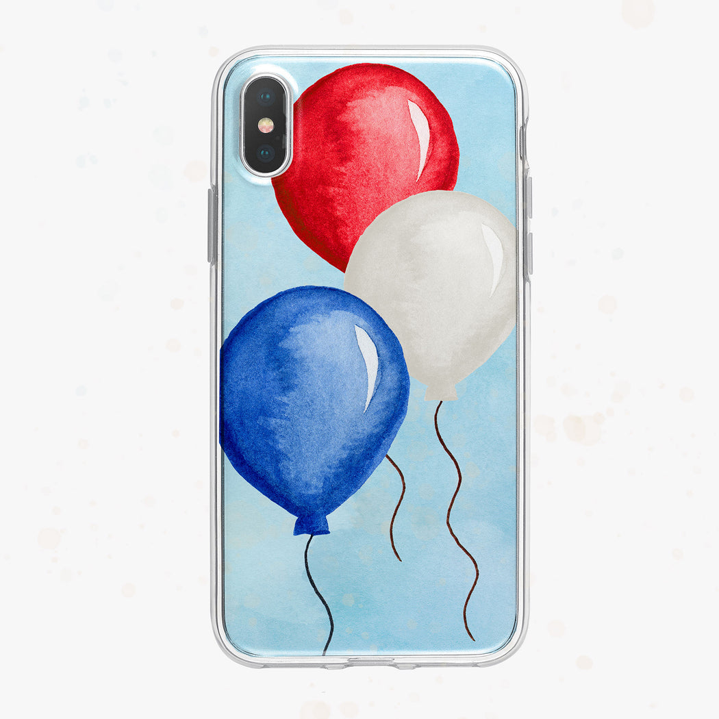 Patriotic Balloons iPhone Case by Tiny Quail