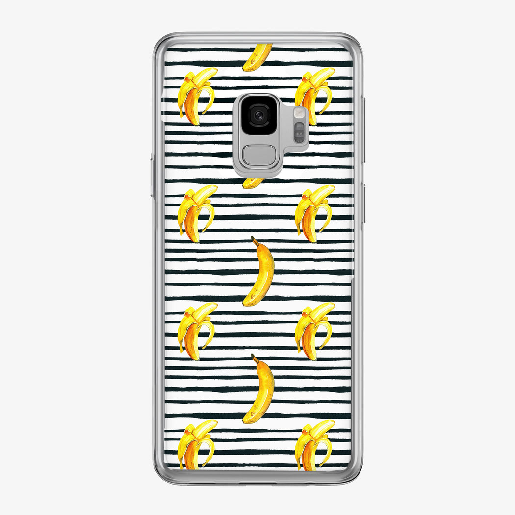 Bananas with Black and White Stripes Samsung Galaxy Phone Case from Tiny Quail