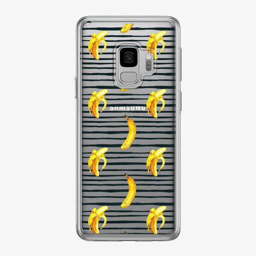 Bananas with Black Stripes Clear Samsung Galaxy Phone Case from Tiny Quail