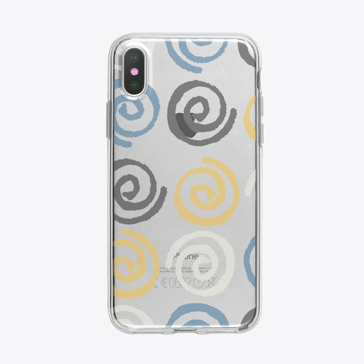 Swirls Pattern Clear iPhone Case from Tiny Quail