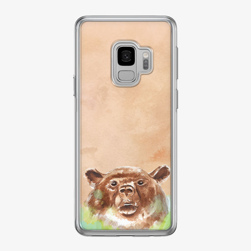 Brown Bear on Beige Samsung Galaxy Phone Case by Tiny Quail