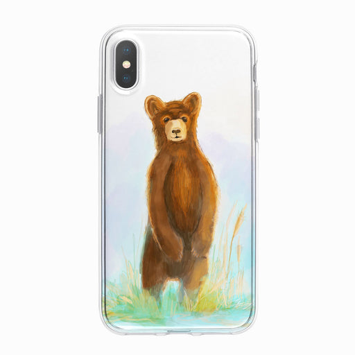 Brown Bear Cub Designer iPhone Case From Tiny Quail