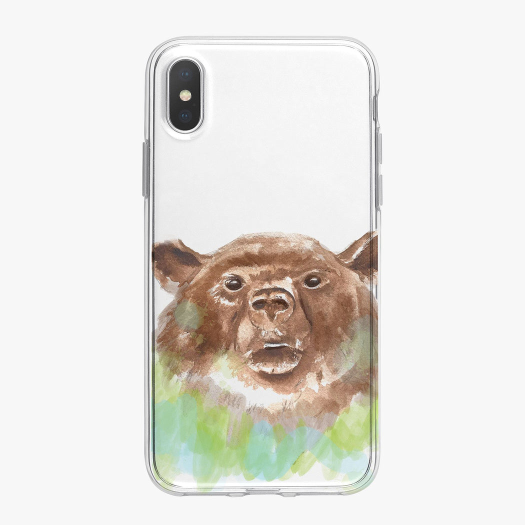 Brown Bear Designer iPhone Case From Tiny Quail
