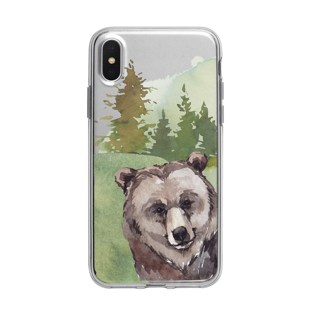 Forest Grizzly Bear iPhone Clear Case from Tiny Quail