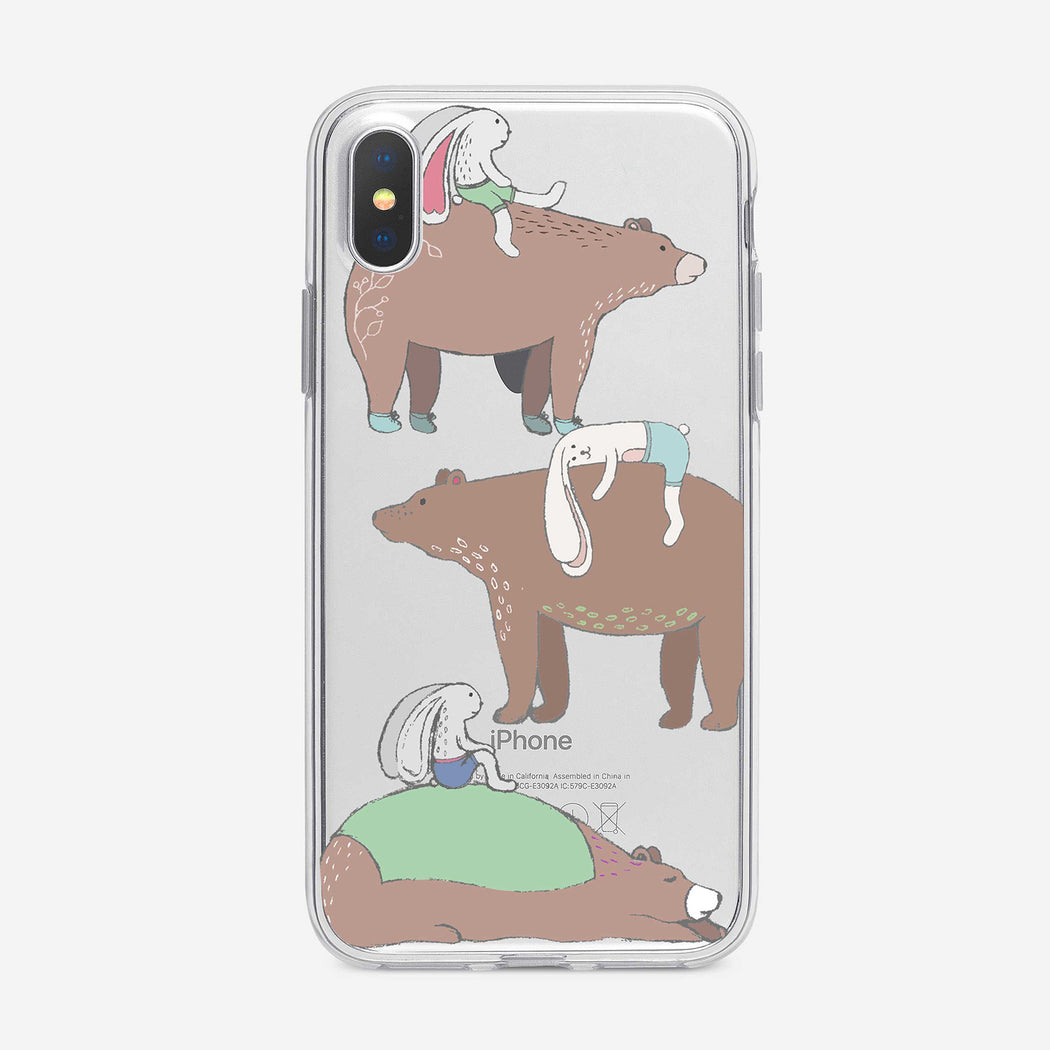 Bears and Bunnies iPhone Case from Tiny Quail
