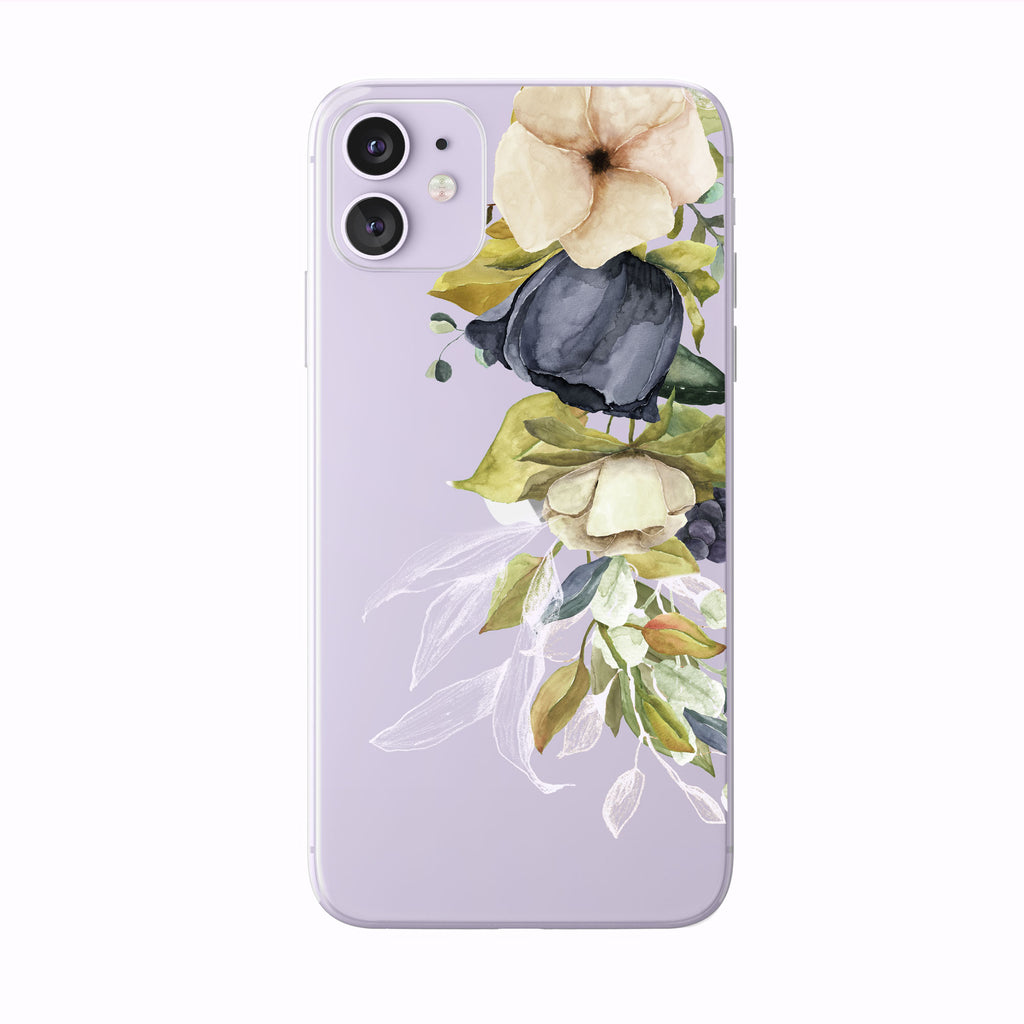Beautiful Fall Hand Painted Floral iPhone case from Tiny Quail