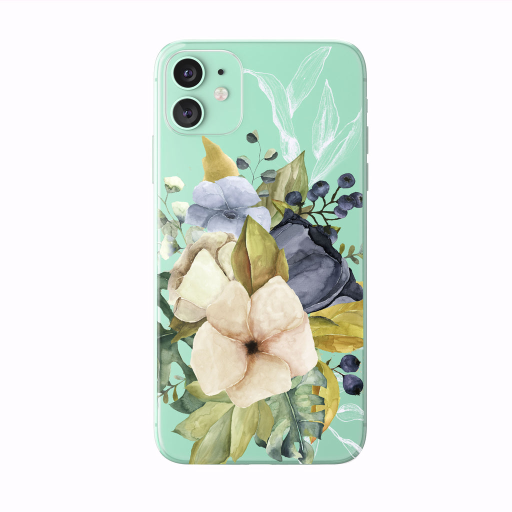 Autumn Watercolor Floral iPhone Case from Tiny Quail
