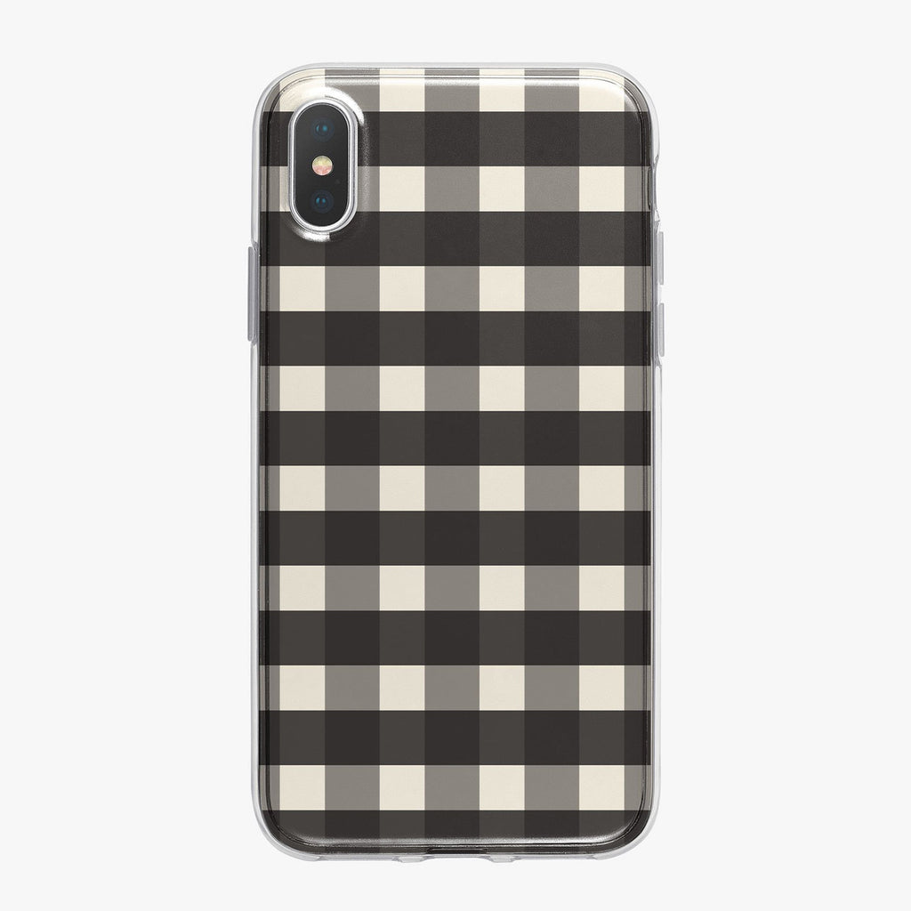 Black and White Checkered iPhone Case from Tiny Quail