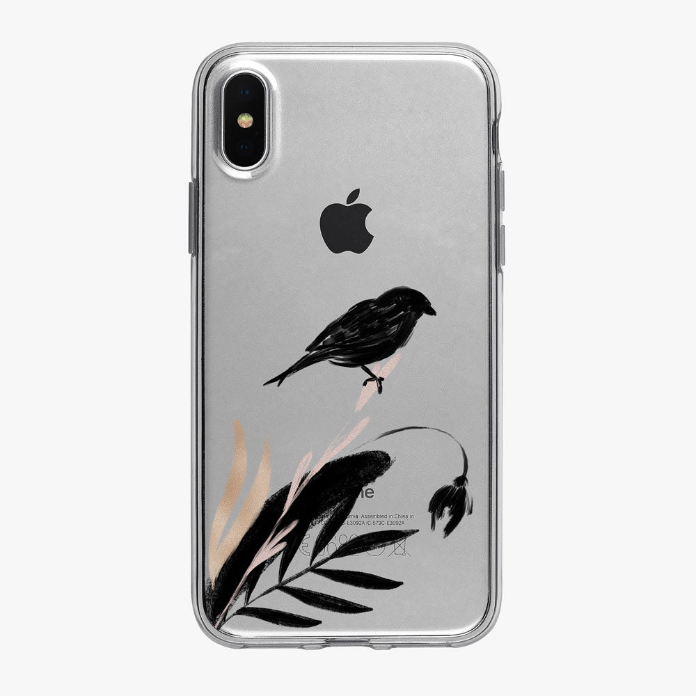 Asian Inspired Blackbird iPhone Case from Tiny Quail