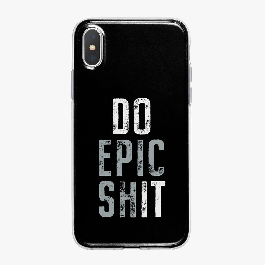 Do Epic Shit on Black Designer iPhone Case from Tiny Quail