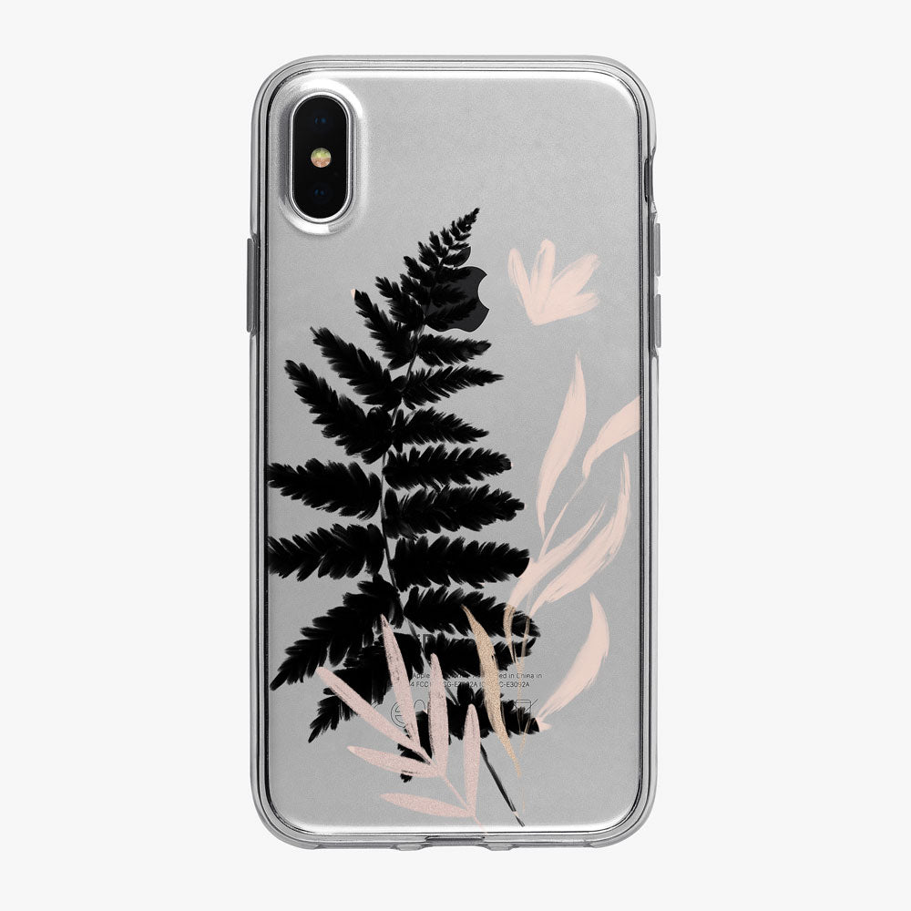 Minimal Black Fern  iPhone Case from Tiny Quail
