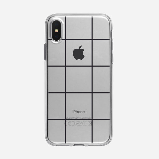 Modern Black Checked Clear iPhone Case from Tiny Quail