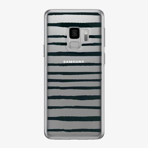 Black Stripes Clear Samsung Galaxy Phone Case from Tiny Quail