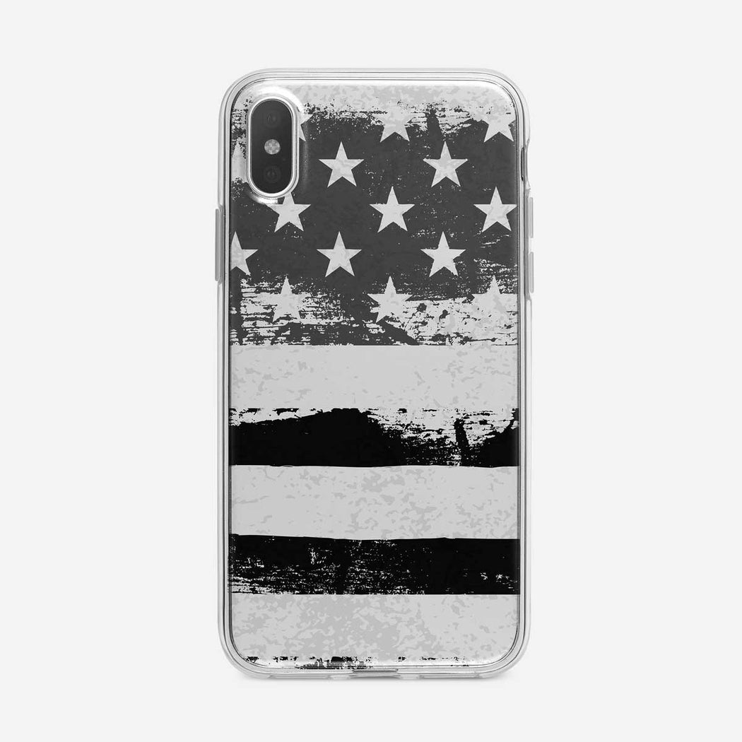 B&W Graphic American Flag iPhone Case from Tiny Quail