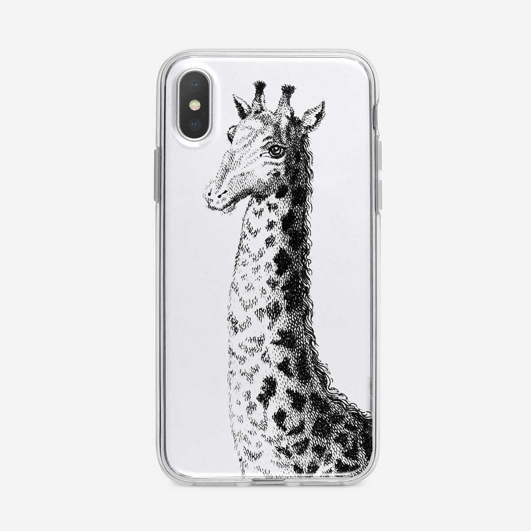 Black and White Giraffe iPhone Case from Tiny Quail