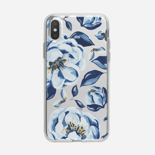Simple Blue Floral Clear iPhone Case from Tiny Quail
