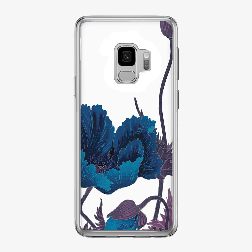 Blue Poppy Floral Samsung Galaxy Phone Case from Tiny Quail