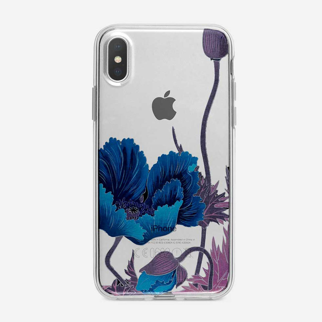 Blue Poppy Floral iPhone Case From Tiny Quail
