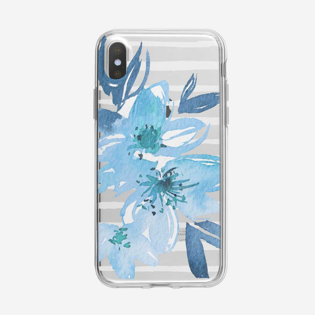 Blue Rhodies Striped iPhone Case From Tiny Quail