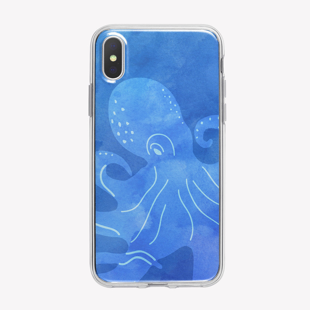 Blue Transparent Octopus iPhone Case from Tiny Quail