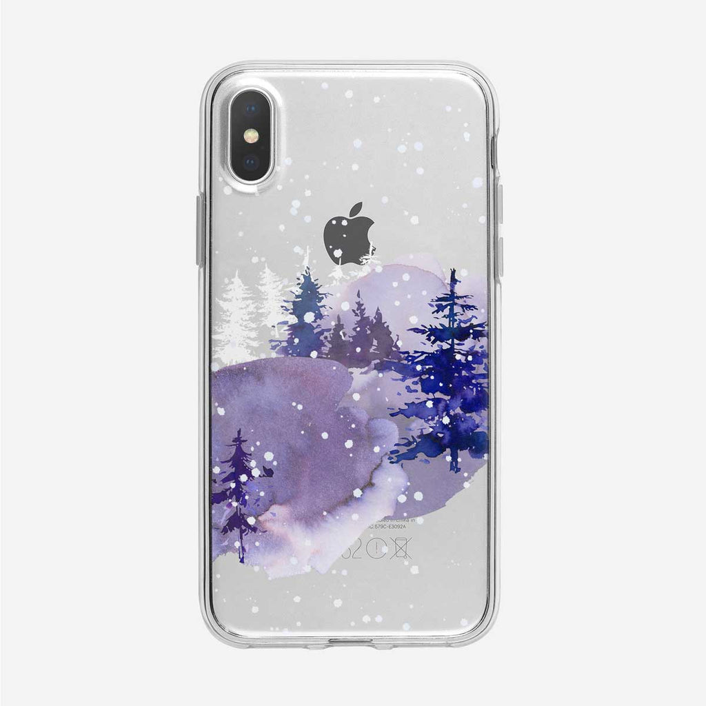 Blue Winter Forest iPhone Case from Tiny Quail