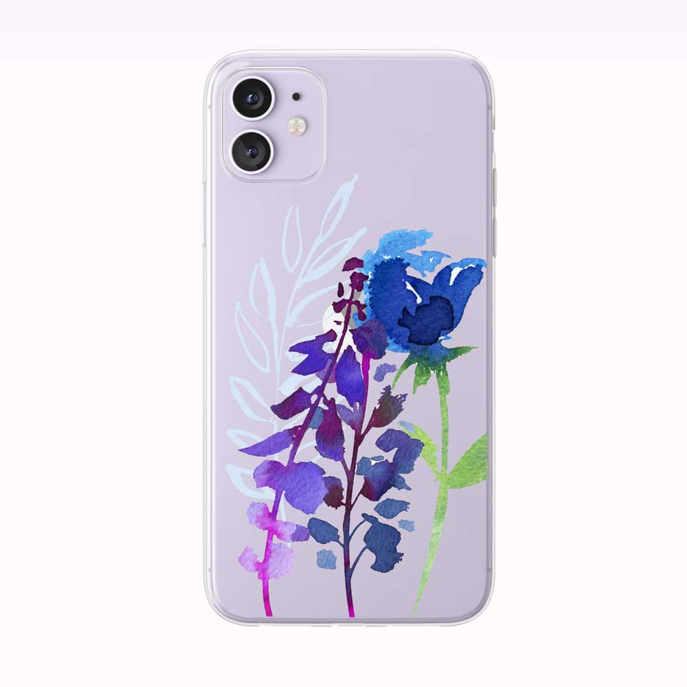 Blue and Purple Floral Stems iPhone Case from Tiny Quail