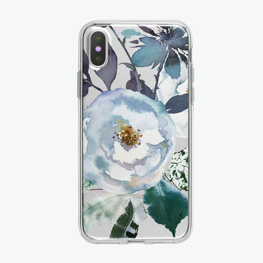 Boho Blue Large Flower iPhone Case from Tiny Quail