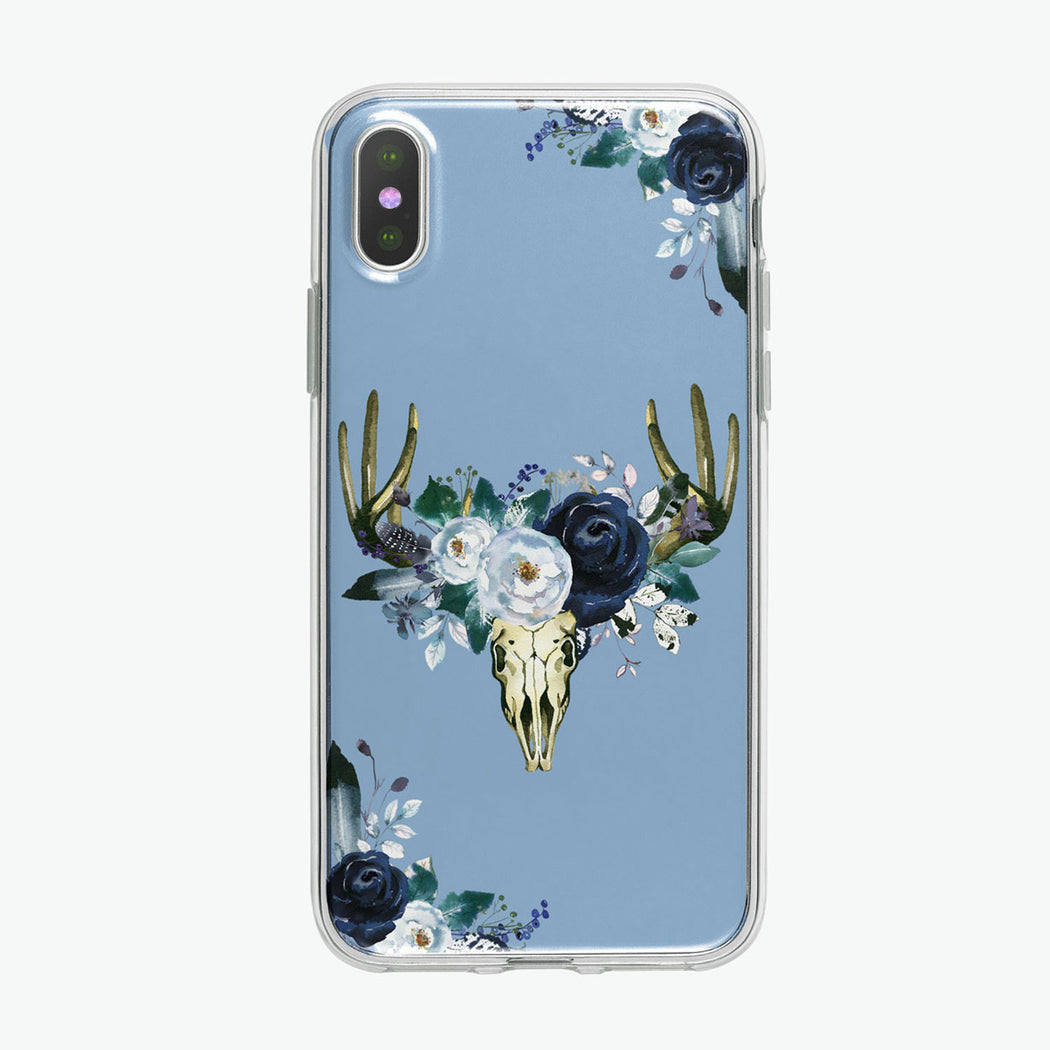 Boho Steer Skull iPhone case from Tiny Quail.