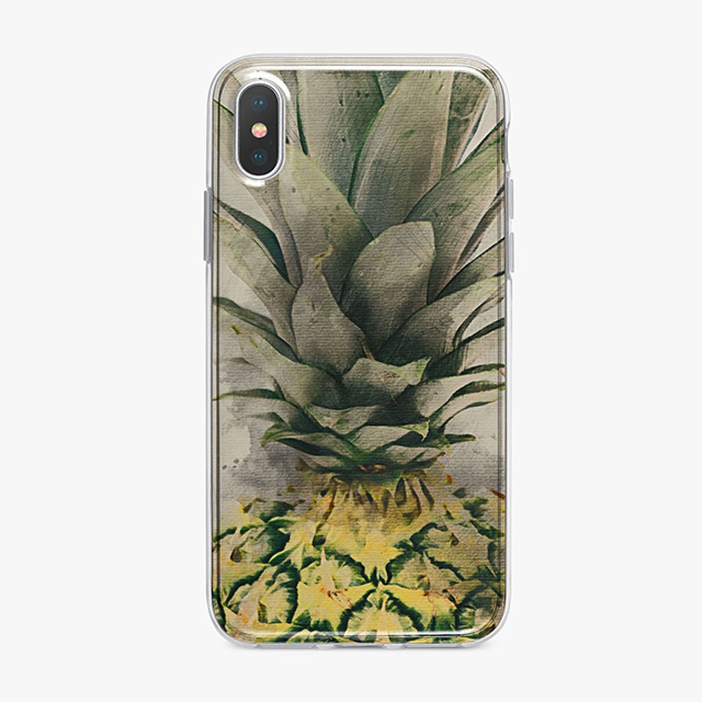 Bold Pineapple iPhone Case by Tiny Quail
