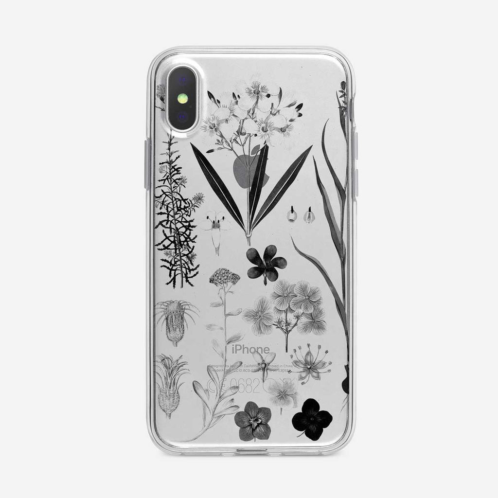 Black and White Botanical iPhone Case from Tiny Quail