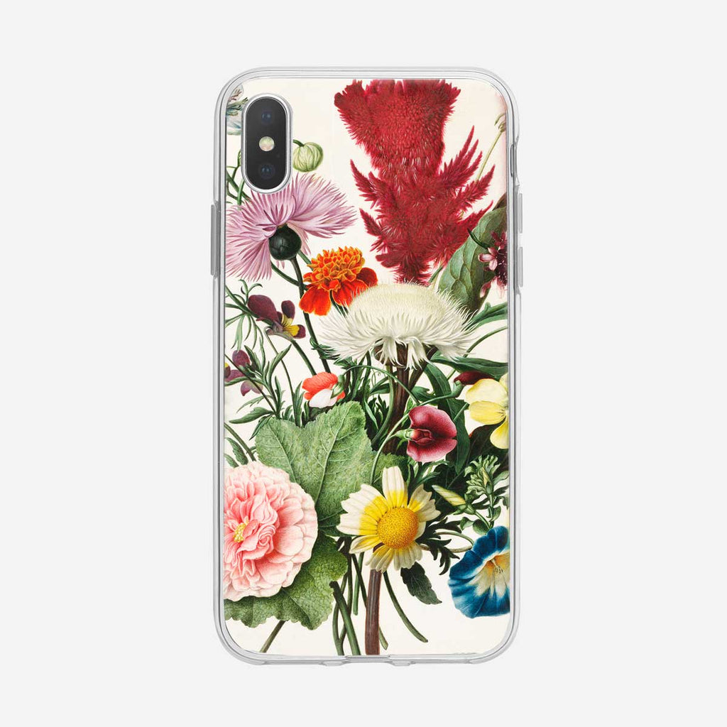 Colorful Botanical Floral Bouquet iPhone Case from Tiny Quail