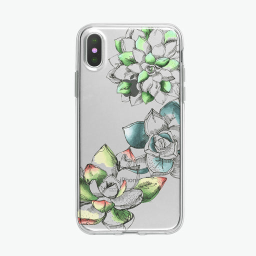 Succulents Pen and Ink Botanical iPhone Case from Tiny Quail