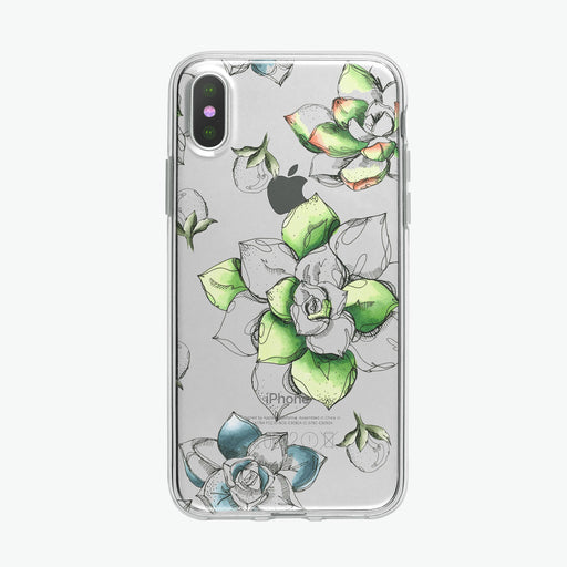 Green Succulents Pen and Ink Botanical iPhone Case from Tiny Quail