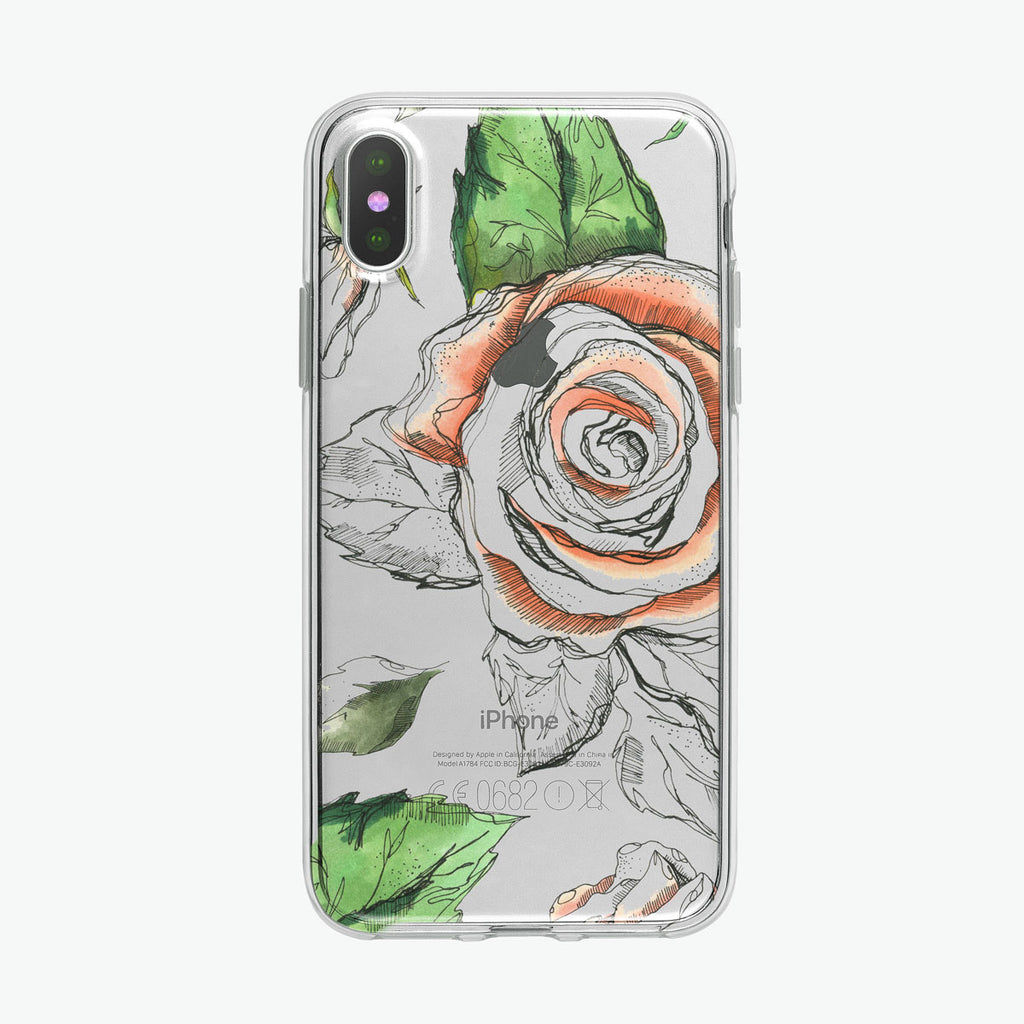 Rose Pen and Ink Botanical iPhone Case from Tiny Quail