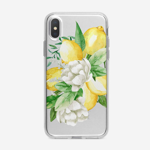 Bountiful Lemons Floral iPhone Case by Tiny Quail