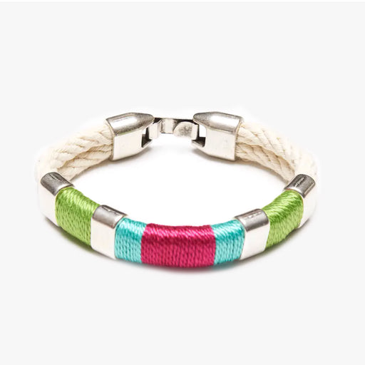 Newbury Bracelet For Women, Ivory/Green/Turquoise/Pink/Silver, By Allison Cole Jewelry