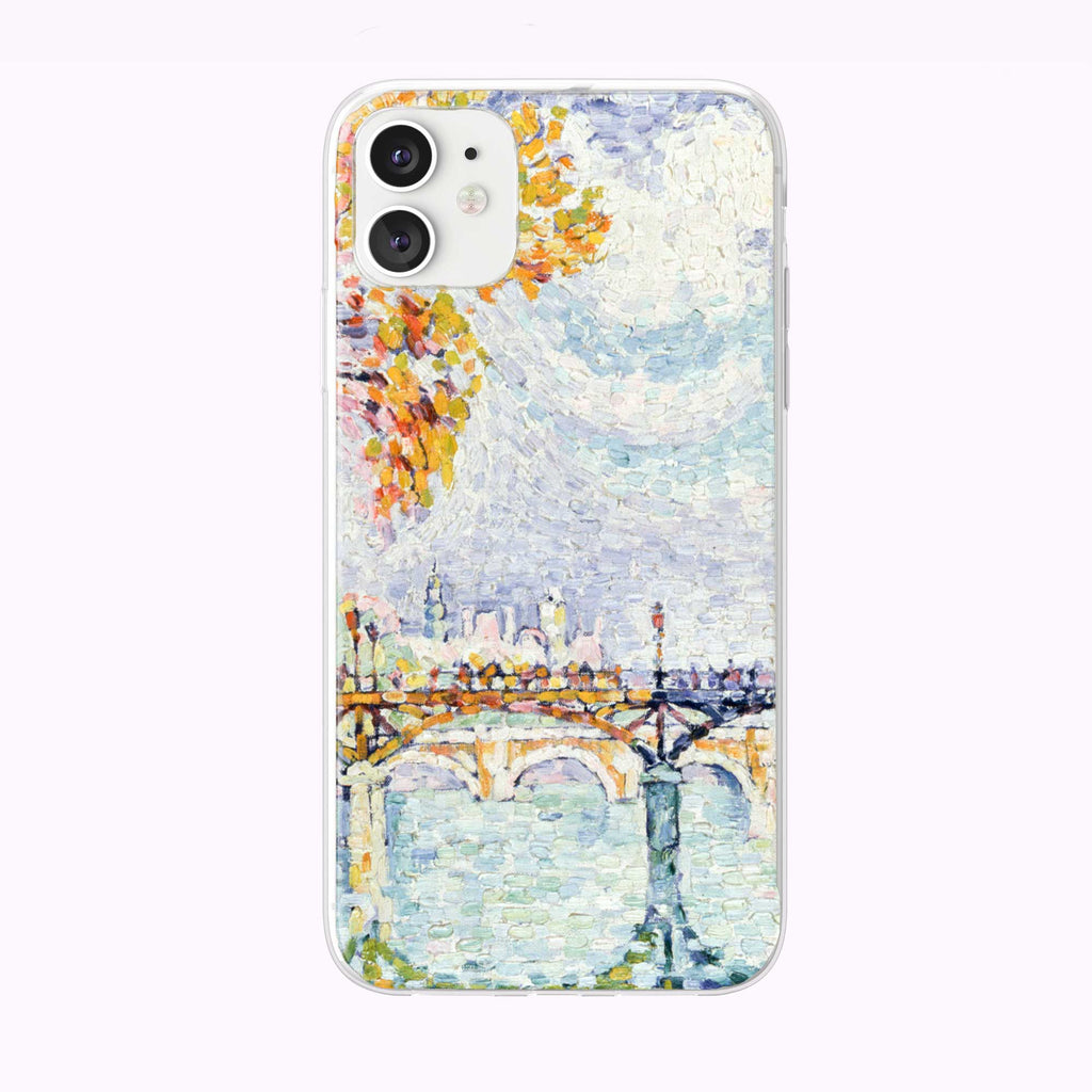 Vintage French Bridge Painting iPhone Case from Tiny Quail
