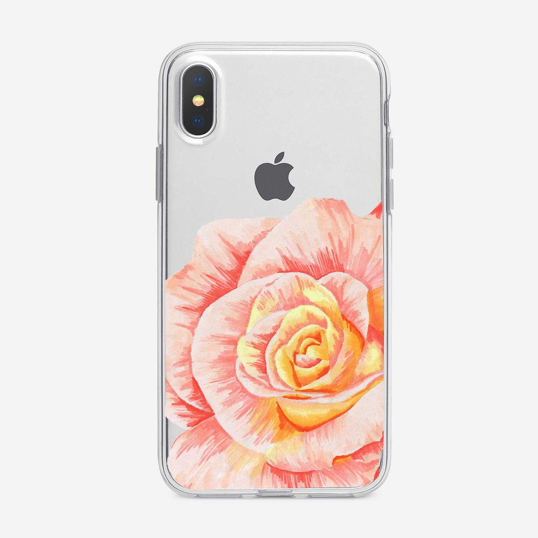 Orange and Yellow Rose iPhone Case from Tiny Quail