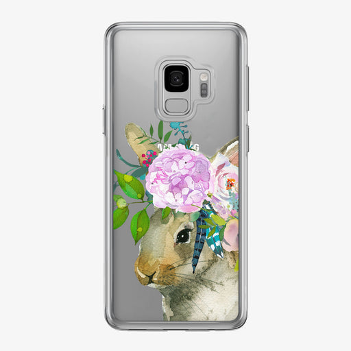 Adorable Bunny Bouquet Clear Samsung Galaxy Phone Case From Tiny Quail