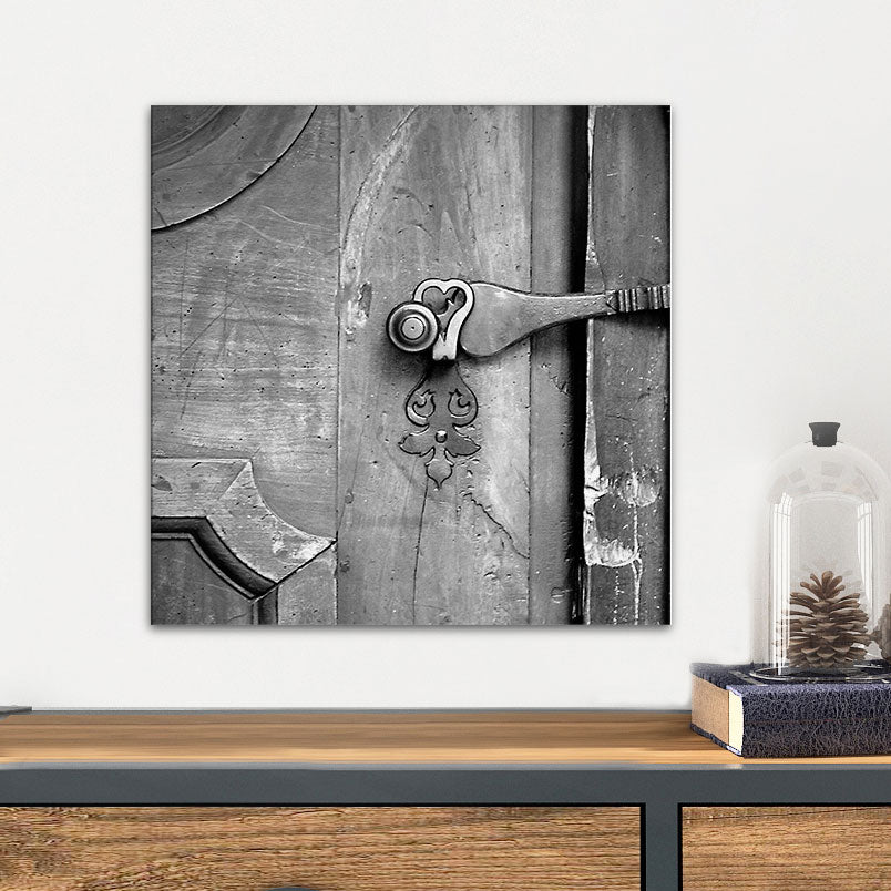 Black & White Rustic Door Glass Photo Wall Art From Tiny Quail