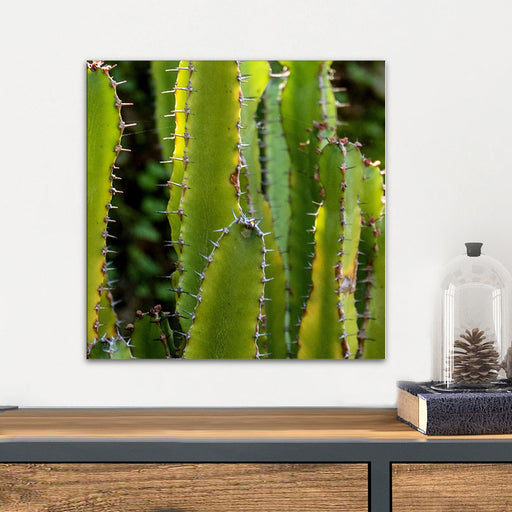 Upright Cactus Glass Wall Art