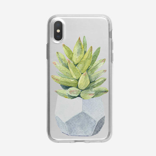Potted Cactus Clear iPhone Case from Tiny Quail